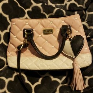 Betsey Johnson Luv Betsey quilted & heart purse